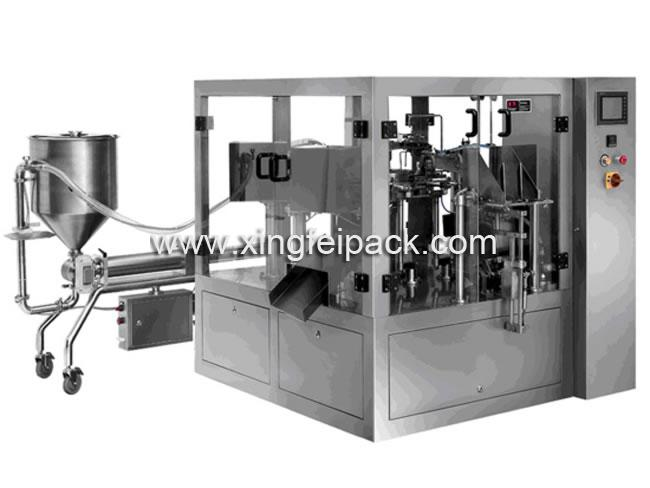 Automatic Premade Pouch Liquid Filling And Packing Equipment