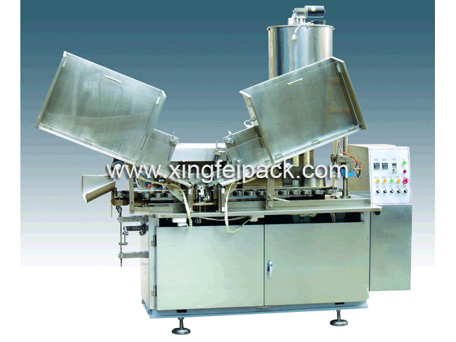 Two Head Plastic Tube Filling Sealing Machine